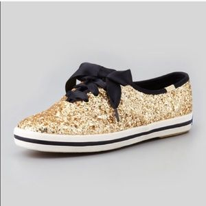 Kate Spade Gold Glitter shoes